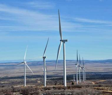So far, 23 out of 27 giant wind turbines have been installed. Sam Green/The Journal