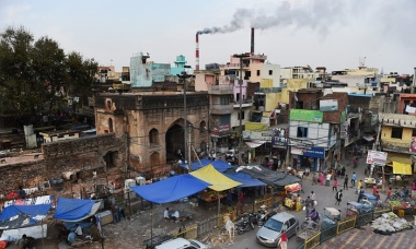 The coal-based Badarpur Thermal Station in New Delhi. Photo: Money Sharma/AFP/Getty Images