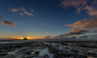 The sun sets at Hinkley Point nuclear power station. Photograph: iVistaphotography / Barcroft