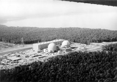 Surry Power Station. Circa 1972. US DOE photo. Public Domain. Wikimedia Commons.