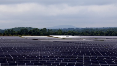 Apple's solar PV facility in Maiden, North Carolina is helping the state become a national solar leader. Photo: James West/Climate Desk
