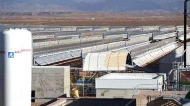 A view of the Noor-1 Concentrated Solar Power plant. (Photo/AFP).