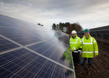 Scottish PV array near Arbroath (British Solar Renewables)