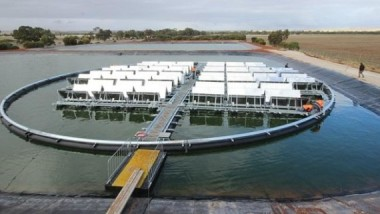 Floating solar plant by Infratech Industries