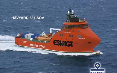 New vessel to support MHI Vestas projects. Source: ESVAGT