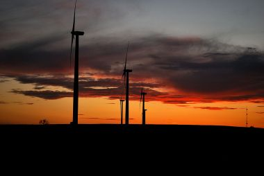 Sunset Turbines, by US Geological Survey - Licensed under Public Domain via Wikimedia Commons