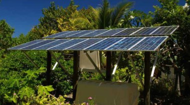 Solar installation at Vanuatu via IRENA.
