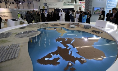 Visitors at Abu Dhabi Sustainability Week 2016. Photograph: Ali Haider/EPA