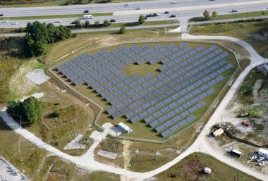The 13 megawatt Camp Lejeune PV facility is Duke Energy's first solar project located at a military base. Courtesy: Duke Energy Renewables.