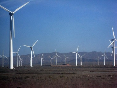 Wind farm in Xinjiang, China Wikimedia Commons