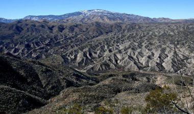 The ridge line above the canyon is the proposed route of the SunZia project. A.E. Araiza / Arizona Daily Star
