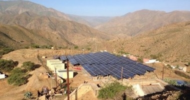 100-kW Smart grid solar energy at Embatkala in Eritrea.