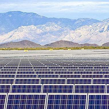 Courtesy of SunEdison, a 25-MW solar power project near Tucson.