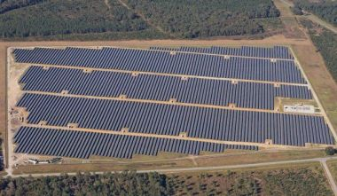 Solar farm under construction in North Carolina. Photo courtesy Duke Energy