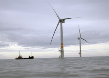 Image: a 3.6MW GE turbine at Arklow Bank in Ireland (NREL)