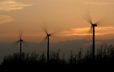Wind turbines at work. Author: Nick Cross. License: Creative Commons, Attribution-NoDerivs 2.0 Generic.