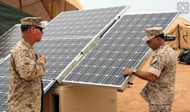 "NATO plans to increase its investment in renewables and energy efficiency as they ""reduce the risk"" to troops involved in conflict. Photo credit: Pew Environment"