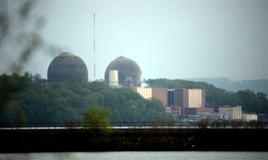 The Indian Point energy center in Buchanan, New York. Photograph: Ricky Flores/AP
