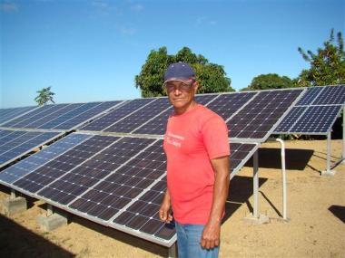 Solar system in Cuba. Photo: CIES