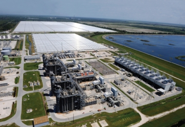 FPL's Martin County plant is a hybrid solar/natural gas plant. Photo provided by FPL.