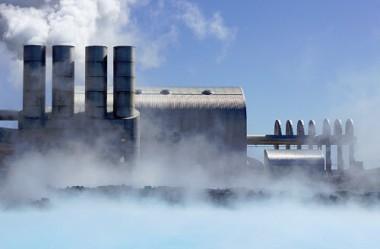 Geothermal plant.