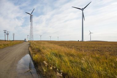 Wind turbines generate electricity in Kotzebue in September 2015. Loren Holmes / ADN
