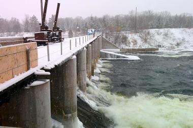 Hydroelectric station on the Otonabee River. Photo by Bruce Head for kawarthaNOW.