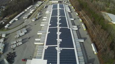 Estes Express Lines' solar array.