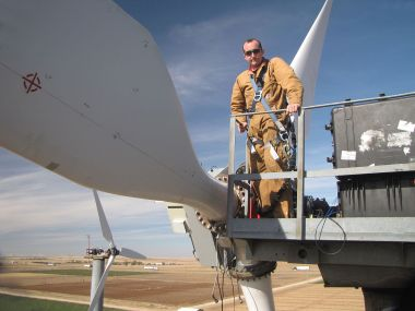 Scaled Wind Farm Technology in Lubbock, Texas. Photo by Mark Rumsey, Energy.gov photo. Wikimedia Commons.