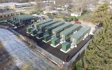 EDF Renewable Energy's first commercial storage project in McHenry County Illinois. Photo: Business Wire