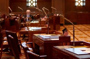 Republican seat sit empty in the Oregon Senate. Ian K. Kullgren/staff.