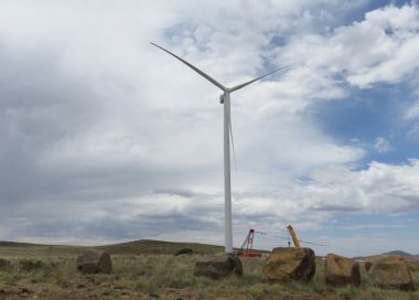 First turbine at Noupoort wind farm (Mainstream)