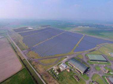 Wroughton Solar Park in Wiltshire has been funded by green bonds