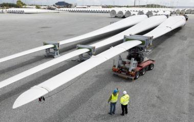 Siemens wind turbine blades. Source: Siemens. License: All rights reserved