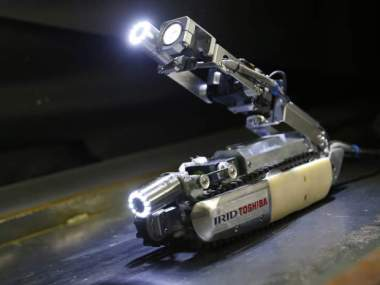 A robot developed by Toshiba Corp. AP Photo/Shizuo Kambayashi