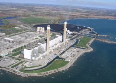 Ontario Power Generation's Nanticoke Generating Station in southern Ontario. Photo: OPG