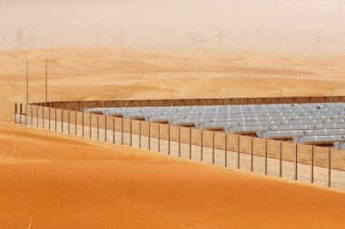 The Shams 1 plant was one of the first concentrated solar power plants in the region. Christopher Pike / The National