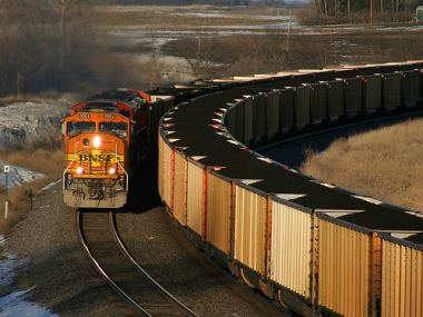 Canadian rail cars carrying coal.