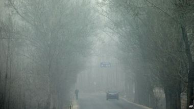 Heavy haze on a severely polluted day in northern China. Reuters
