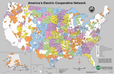 National Rural Electric Cooperative Association Map
