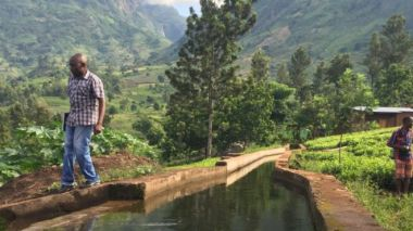 This canal feeds a small-scale hydro scheme in the village of Bondo, Malawi that powers 250 homes.