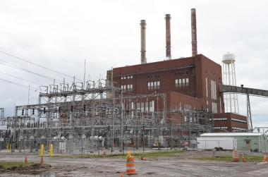 Consumers Energy's JR Whiting Generating Plant. Tom Hawley / The Monroe News via AP