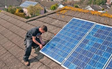 Solar panels can save up to £135 a year in energy bills.
