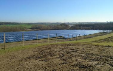 Oxcroft Solar Farm. Original image owned by Anesco