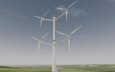 Illustration of the multi-rotor concept demonstration turbine. Source: Vestas (www.vestas.com).