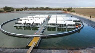 Floating solar in Jamestown, South Australia