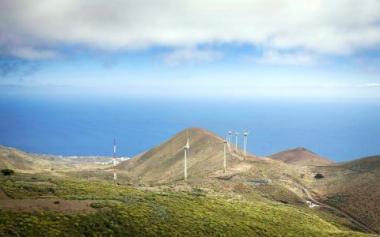 El Heirro wind farm. AFP photo