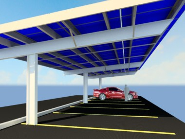 Legoland Florida is building a new solar energy system in their parking lot.