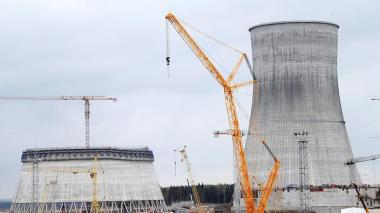 A view of the construction site of the Belarusian nuclear power plant 180 km from Minsk, Belarus, 2016. (AAP-EPA / Tatyana Zenkovich