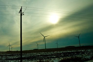 Winter Windmills in Iowa. Photo by Tony Webster. CC BY-SA 3.0 unported. Wikimedia Commons.